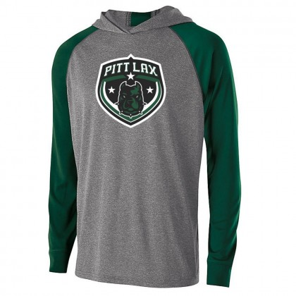 Pitt County Lacrosse Echo Hooded T-Shirt | Shield Logo