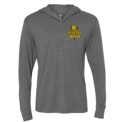 DHC Lacrosse Unisex Hooded Triblend T-Shirt | Small Logo | Multiple Colors
