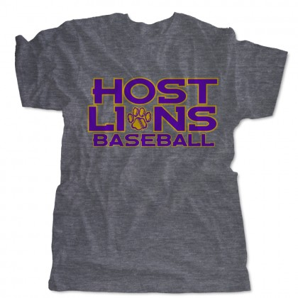 Host Lions Logo Triblend Shirts | Made in USA Tee