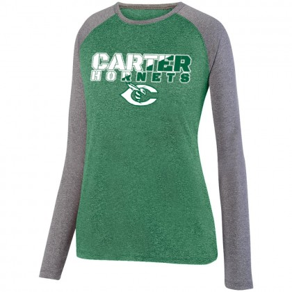 Carter Hornets Slash Design Long-Sleeve Ladies Performance Raglan T-Shirt | Multiple Colors