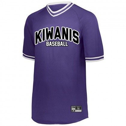 Kiwanis Baseball Retro V-Neck Baseball Jersey | Small Logo