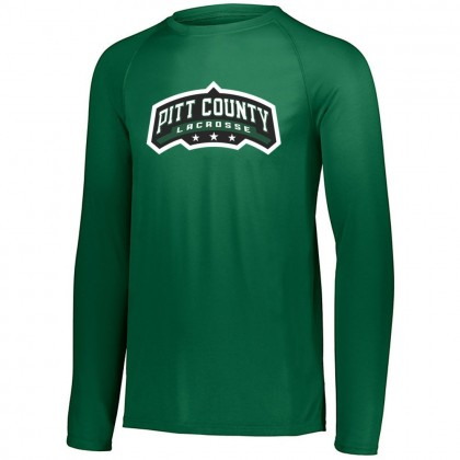 Pitt County Lacrosse Long-Sleeve Performance Tee | Word Logo | Multiple Colors