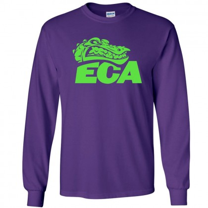 ECA Gators Swimming Long-Sleeve Cotton Tee | 1 Color Logo | Multiple Colors