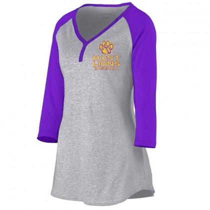 Host Lions Ladies Henley Shirt