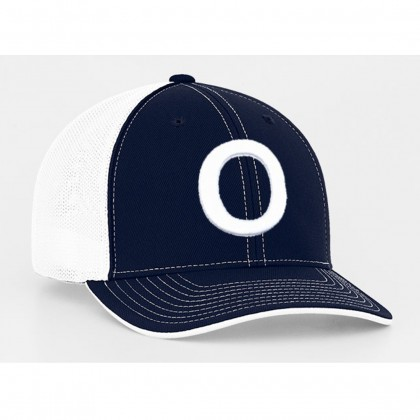 Overton's Fitted Mesh Trucker Hat | Navy/White