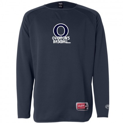Overton's Baseball Rawlings Long Sleeve Flatback Mesh Fleece Pullover