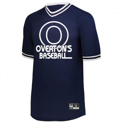 Overton's Baseball Retro V-Neck Baseball Jersey | Large Logo