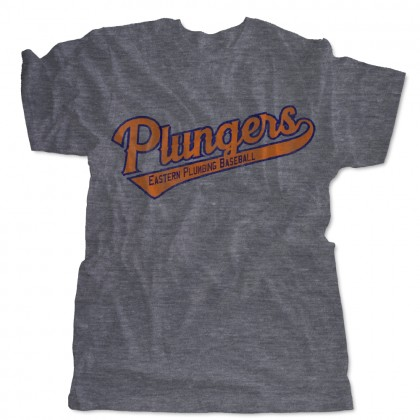 Plungers Distressed Triblend Tee | USA Made | Sizes For Whole Family