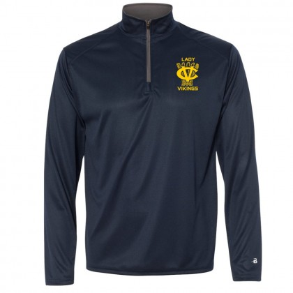 DH Conley Lady Vikings Baskertball 1/4 Zip Lightweight Performance Tee | Small Logo