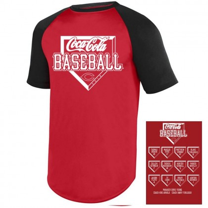 Coca-Cola Baseball 2018 Roster Performance or Cotton Shirt