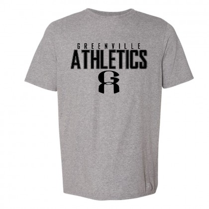 GA Grey Russell Athletic Tee | Word Logo