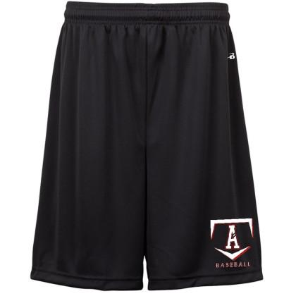 E B Aycock Badger Black Solid Shorts