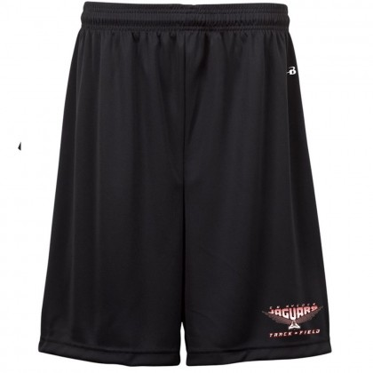 E B Aycock Track & Field  Badger Black Solid Shorts