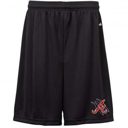 E B Aycock Football Badger Black Solid Shorts