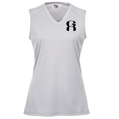 Greenville Athletics Ladies Sleeveless Performance Tee | Silver
