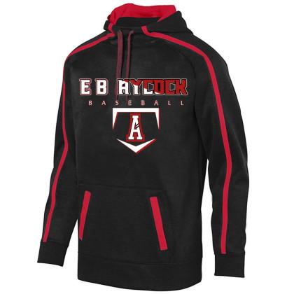 EB Aycock Baseball Stoked Tonal Heather Performance Hoodie   Word Logo   Youth & Adult Sizes