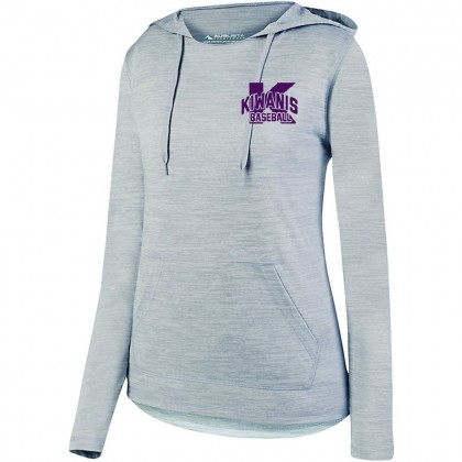 Kiwanis Ladies Tonal Heather Hooded Performance Tee