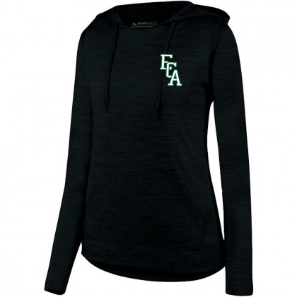 ECA Ladies Tonal Heather Hooded Performance Tee