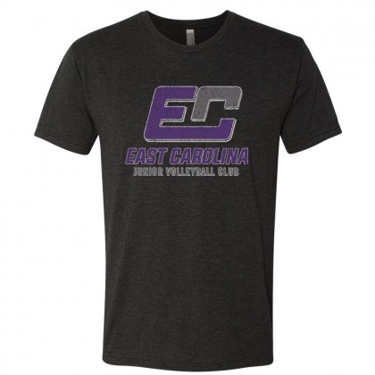 ECJVC Distressed Logo Triblend T-Shirt | Multiple Colors | Sizes for Whole Family