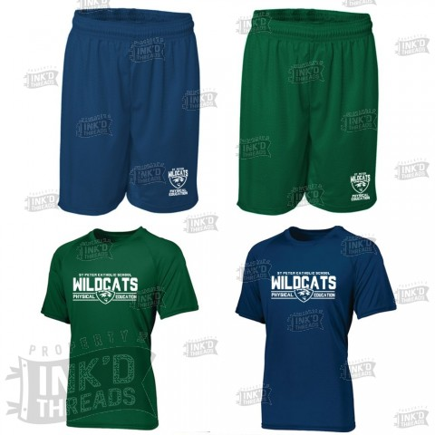 St. Peter PE Saver Pack | 2 Shirts, 2 Shorts | Order Together and Save