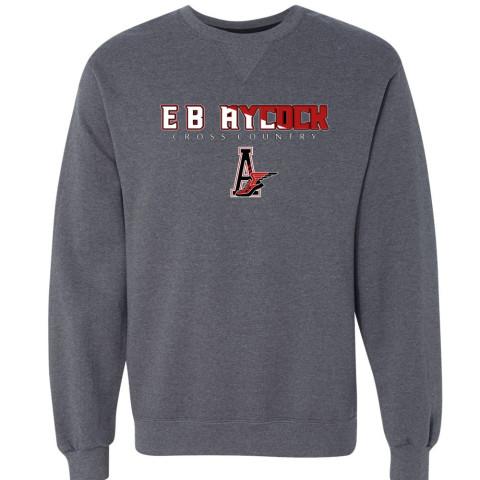 EB Aycock Cross Country Crewneck Sweatshirt   Word Logo