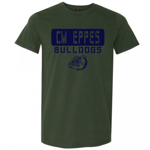 CM Eppes Cotton Tee | Stencil Design | Multiple Colors