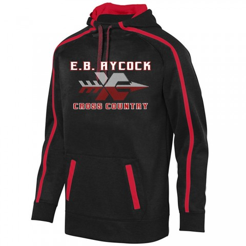 EB Aycock Cross Country Stoked Tonal Heather Performance Hoodie | XC Logo | Youth & Adult Sizes