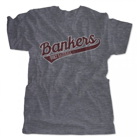 Bankers BB&T Baseball Distressed Logo Tee | USA Made Tee | Size for Whole Family