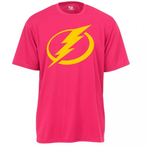Lightning Basic Performance Tee | Fuschia