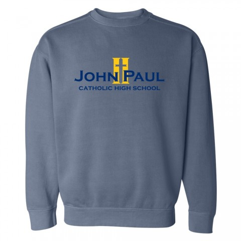 John Paul II Full Front Logo Comfort Colors Sweatshirt