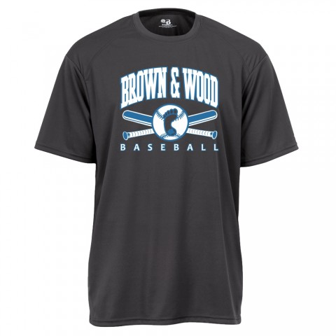 Brown & Wood Basic Performance Tee | Full Chest Charcoal