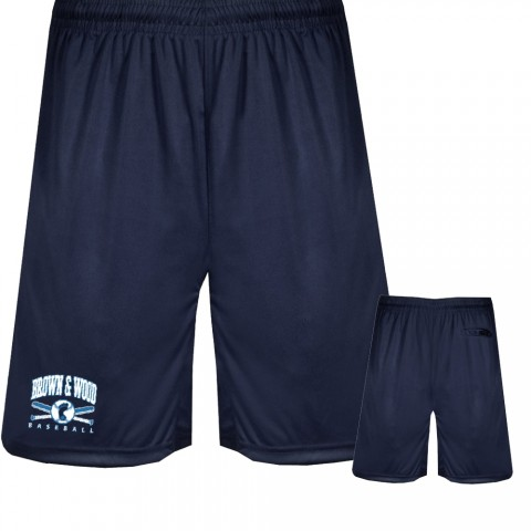 Brown & Wood Coaching Shorts | Navy