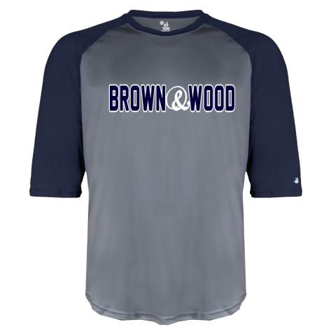 Brown & Wood Raglan Performance Tee