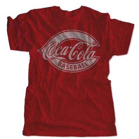 Coca-Cola Baseball Distressed Logo Tee | USA Made Tee | Size for Whole Family