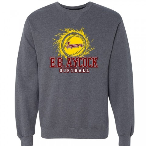EB Aycock Softball Crewneck Sweatshirt | Softball Logo
