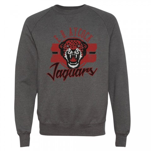 E B Aycock Jaguars Distressed Sweatshirt