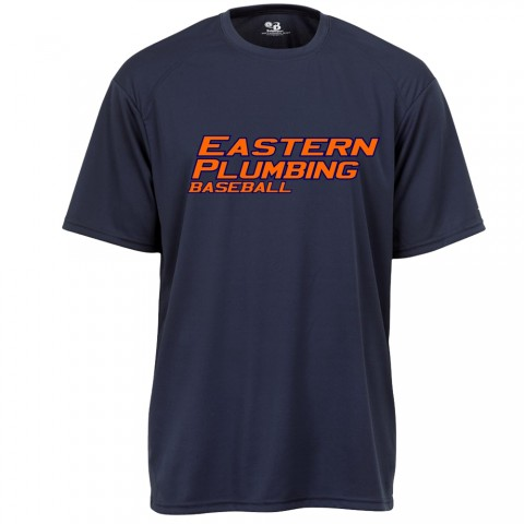 Eastern Plumbing Basic Performance Tee | Eastern Logo