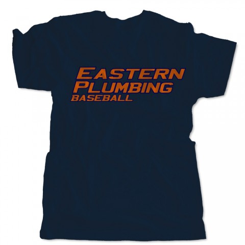Basic Eastern Plumbing Navy Cotton Tee | Sizes for the Whole Family