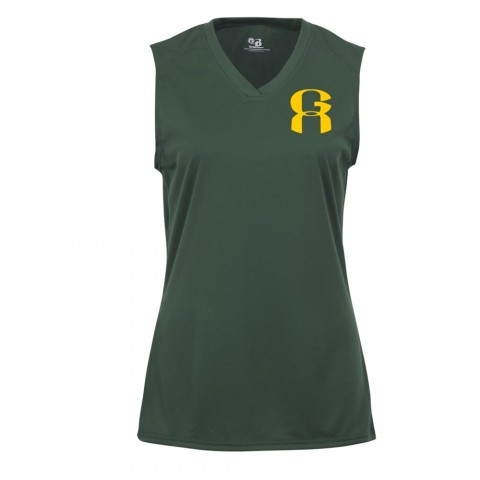 GA Ladies Sleeveless V-Neck Performance Tee | Small Logo