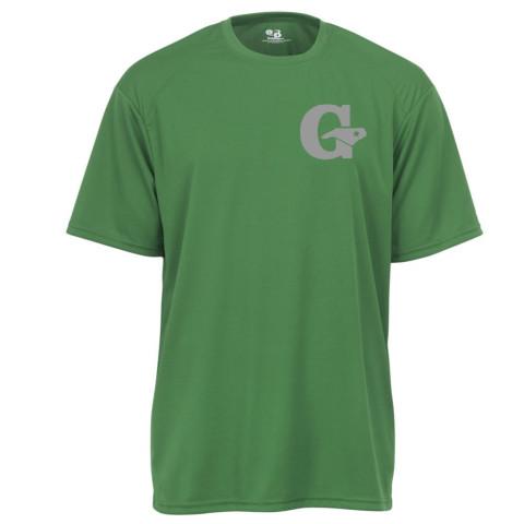 GLL All-Stars Performance Tee | Green/Grey Print | Chest Logo