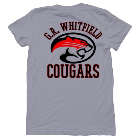G.R. Whitfield Cougars T-Shirt | Slate | Chest/Back Print