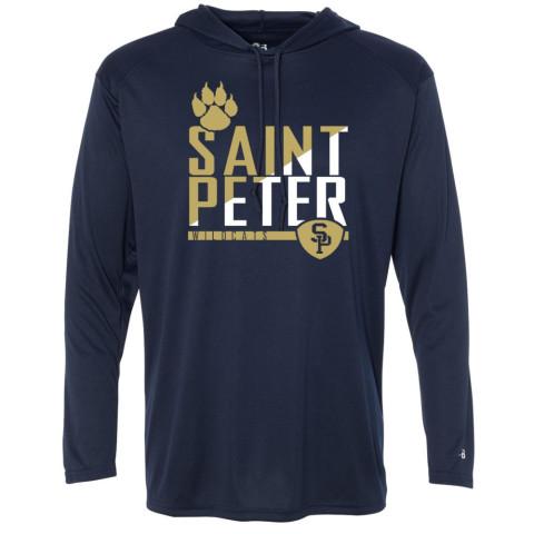 Saint Peter Wildcats Hooded Performance T-Shirt