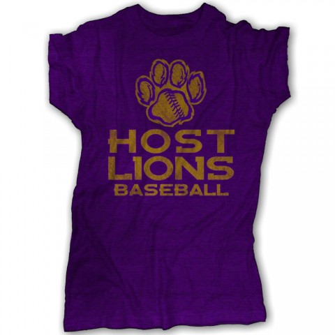 Host Lions Ladies Distressed Paw Logo Tee | Multiple Colors