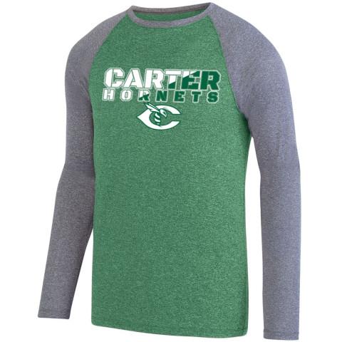Carter Hornets Slash Design Long-Sleeve Performance Raglan T-Shirt | Multiple Colors