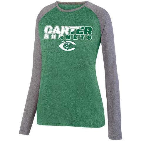 Carter Hornets Slash Design Long-Sleeve Ladies Performance Raglan T-Shirt   Multiple Colors