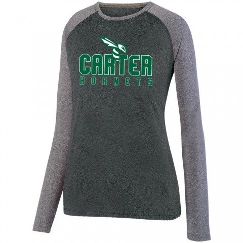Carter Hornets Long-Sleeve Ladies Performance Raglan T-Shirt | Multiple Colors