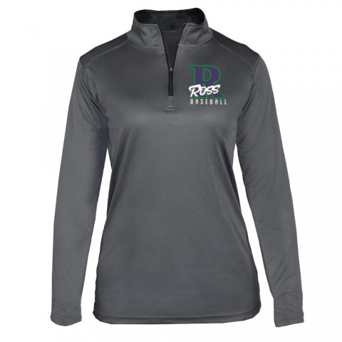 Ross Ladies 1/4 Zip Long-Sleeve Performance Tee