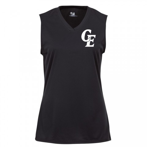 Elite Ladies Sleeveless V Neck  Performance Tee