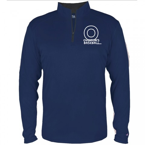 Overton's 1/4 Zip Lightweight Performance Tee | Small Logo