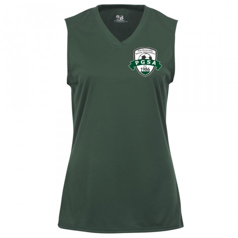 PGSA Ladies Sleeveless V-Neck Performance Tee | Small Logo